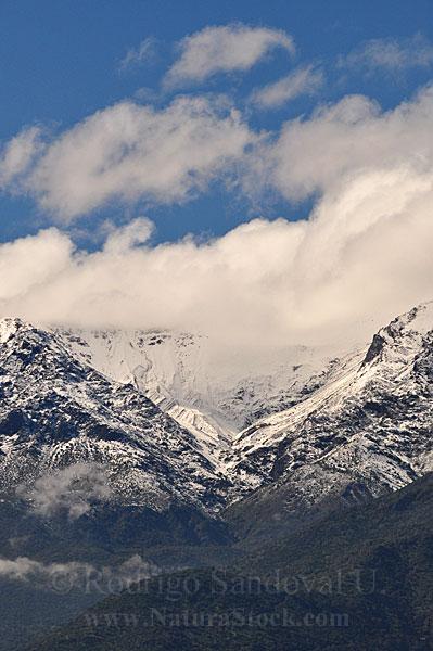 Cordillera de Los Andes. Una vista más amplia.